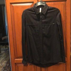 RVCA black button up shirt